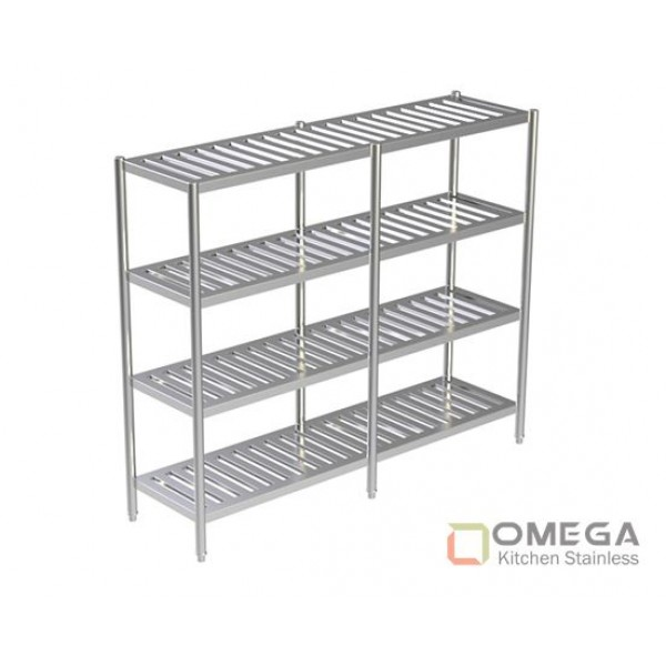 4 - TIERS SLATTED SHELVES OKS-4TSS-02