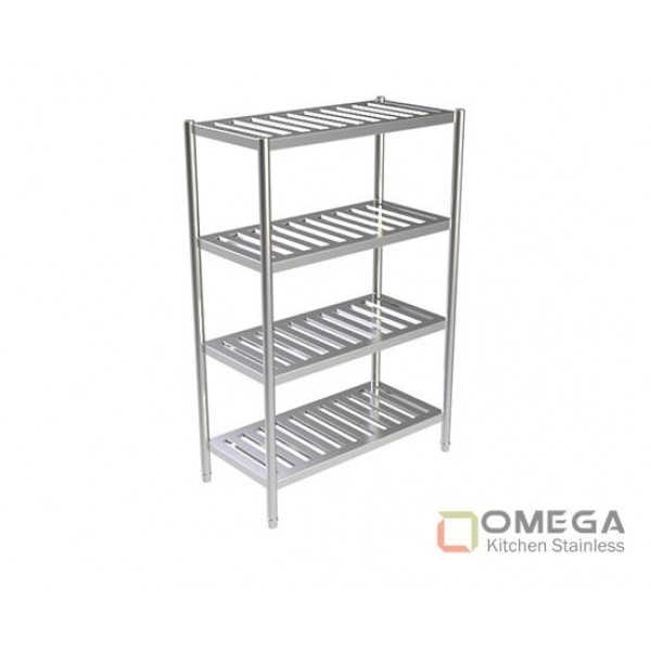 4 - TIERS SLATTED SHELVES OKS-4TSS-01