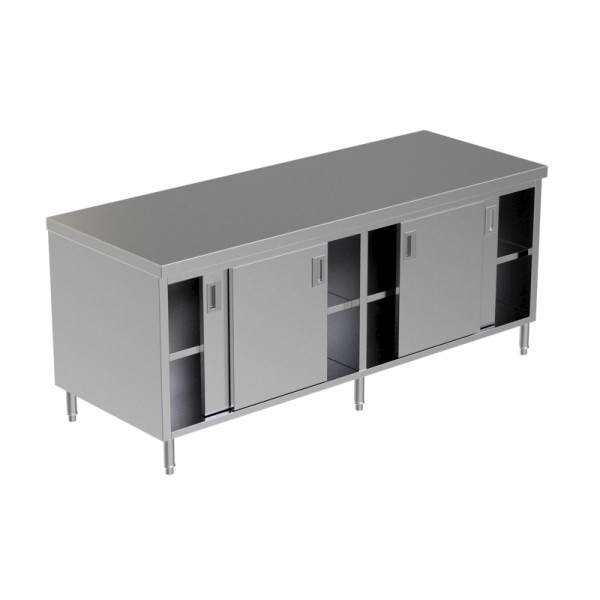 Cabinet Sliding Doors W/Under Shelf OKS-CSD (W/U Shelf) -03