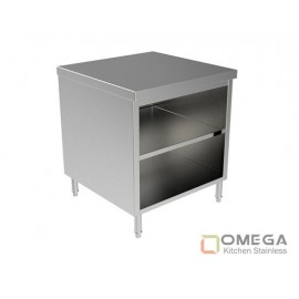 Open Cabinet W/Under Shelf