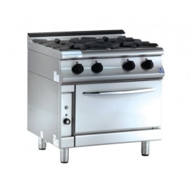 6 BURNERS COOKER GAS W/OVEN 7KG 230