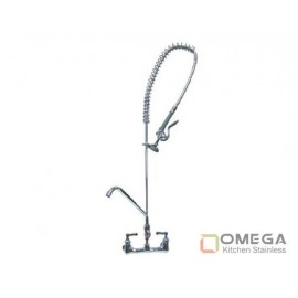Wall Mounted Pre-Rinse Faucet with Additional Faucet