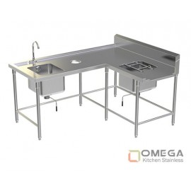 Soiled Dish Table 2 Sinks OKS-SDT 2 Sink-02