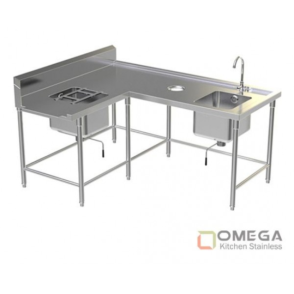 Soiled Dish Table 2 Sinks OKS-SDT 2 Sink-01